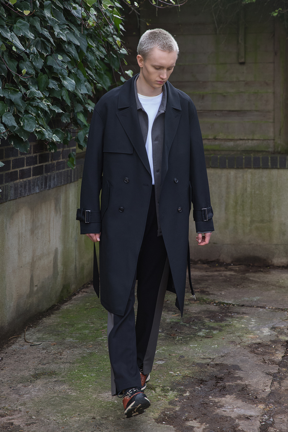 벨리에(BELIER) Wool Tailored Trench Coat / Black