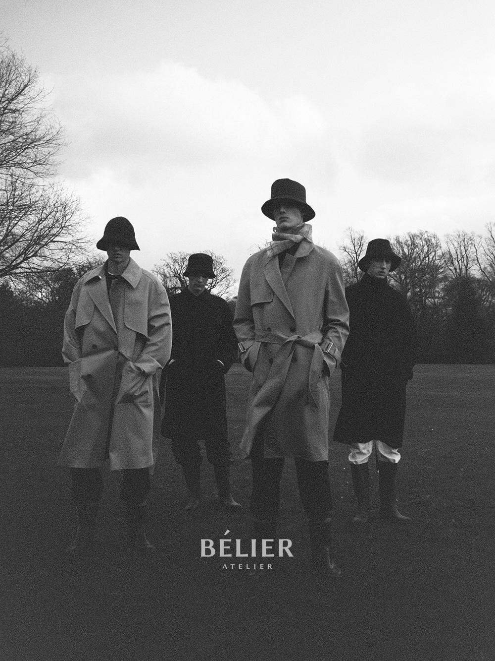 벨리에(BELIER) Side Line Trousers / Black